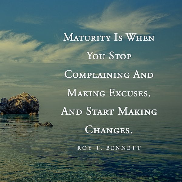 Maturity is When